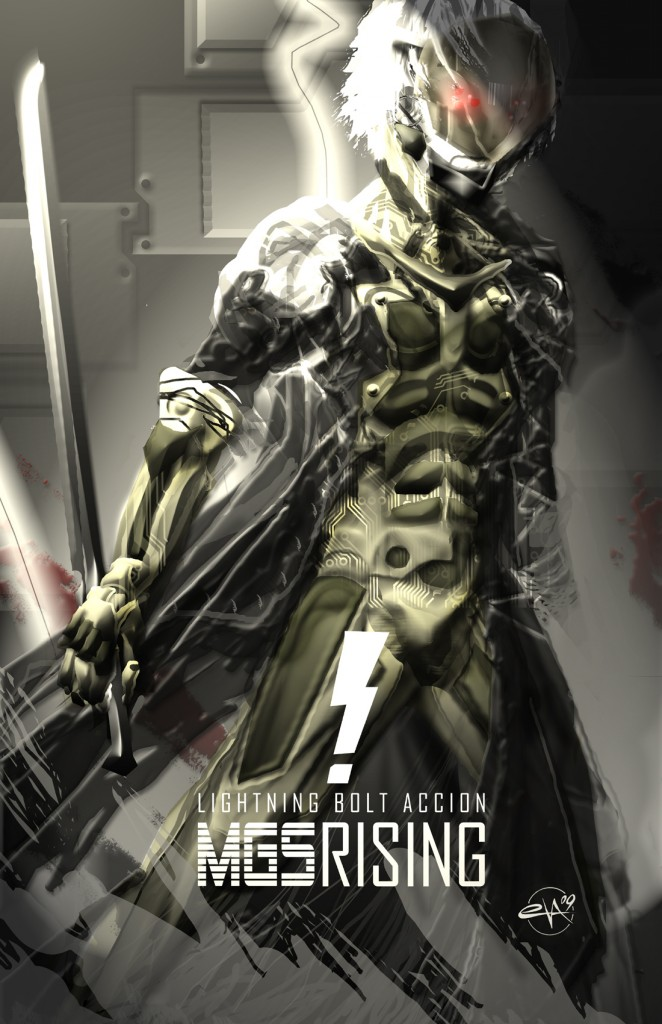 MGS Rising by LaloVarela 662x1024 MGS: Raiden metal gear solid Gaming Art