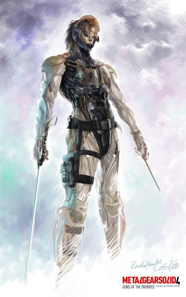 Raiden MGS4 by dwinbotp 641x1024 MGS: Raiden metal gear solid Gaming Art