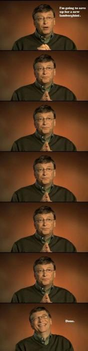 Bill Gates Saving for car