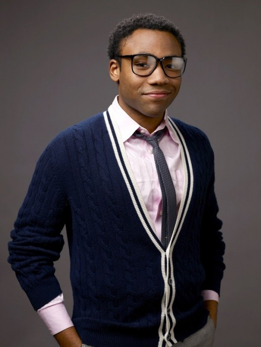Donald Glover in glasses