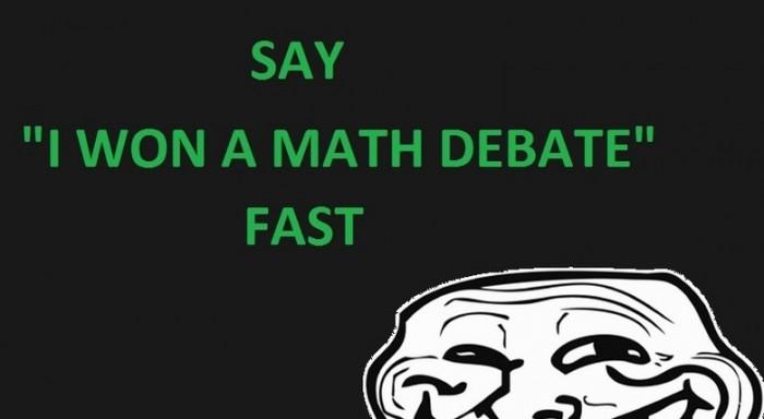 I won a math debate