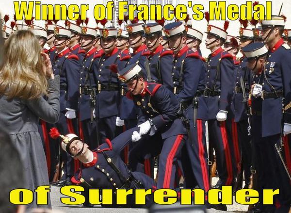 Winner of Frances Medal of Surrender Winner of Frances Medal of Surrender