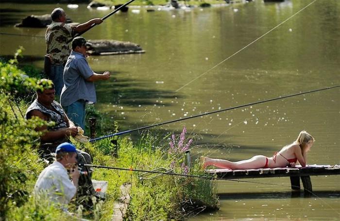 bikini fishing