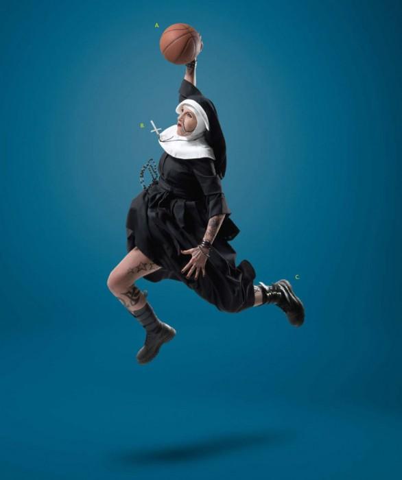 dunking nun
