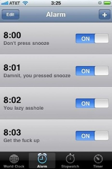 iphone alarms