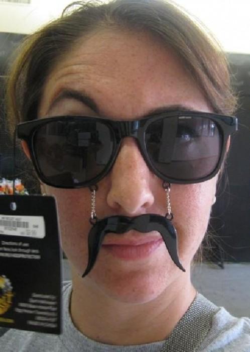 mustache shades
