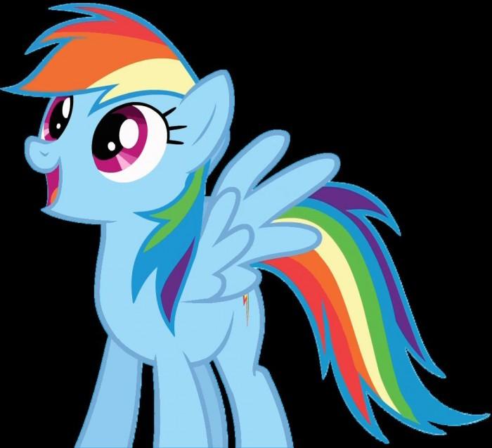 rainbow dash is happy