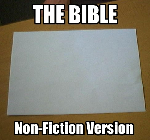 the bible – non-fiction version