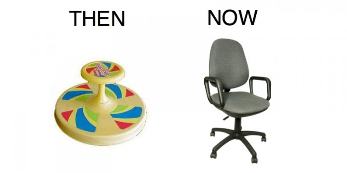 then vs now - seating
