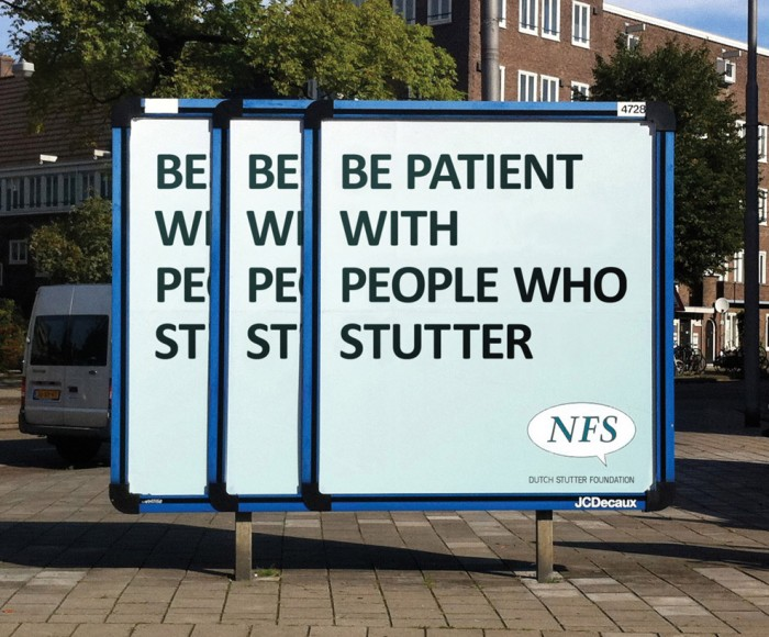 be patient with people who stutter