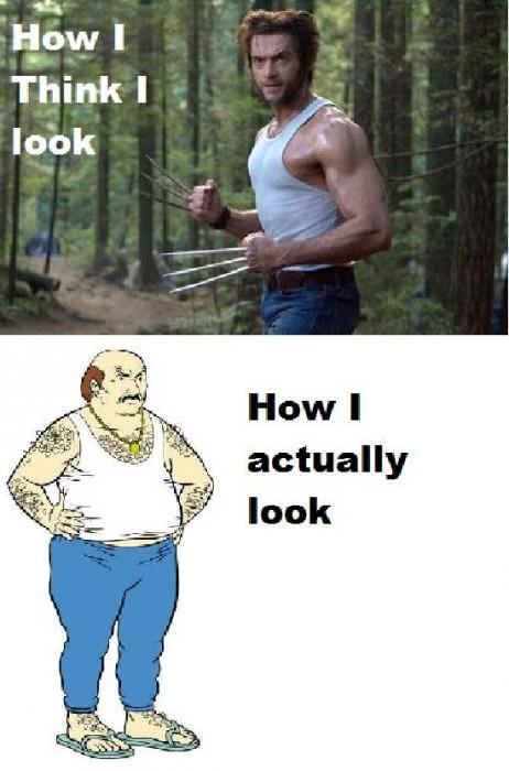 how I think I look