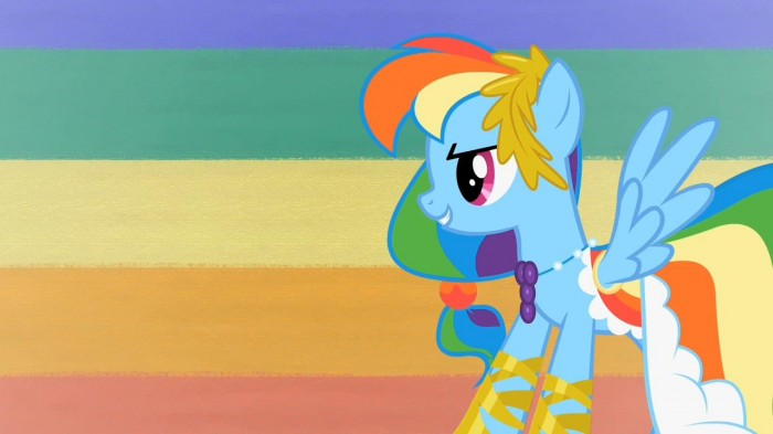 rainbow dash in her dashing outfit 700x393 rainbow dash in her dashing outfit Wallpaper mlp