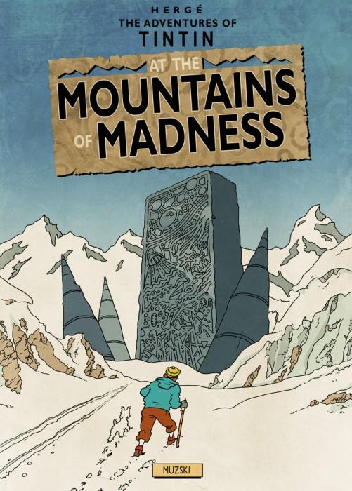 tin tin at the mountains fo madness