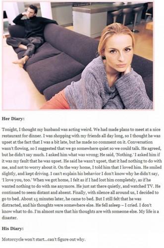 his vs her diary