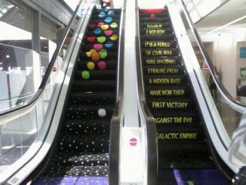 escalator star wars crawl