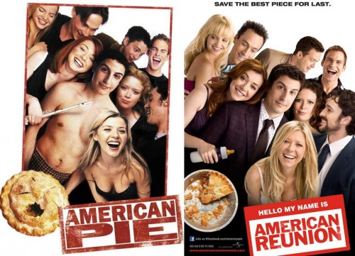 then and now american pie 500x361 then and now american pie Movies movie poster Food american pie
