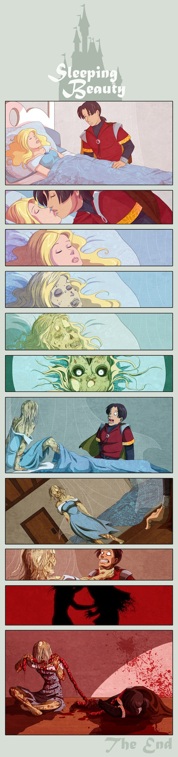 Sleeping Beauty Zombies Humor
