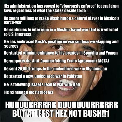 at least hes not bush