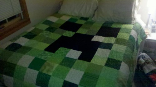 minecraft creeper blanket 500x280 minecraft creeper blanket minecraft Gaming Art
