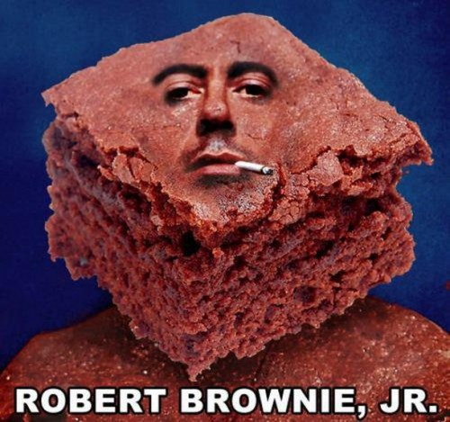 roberts brownie 500x469 roberts brownie robert downie jr Humor Food
