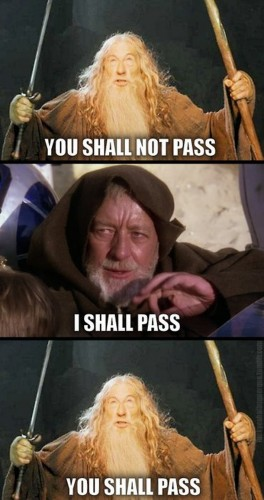 you shall pass 264x500 you shall pass star wars LOTR Humor