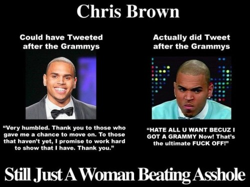 chris brown still just a woman beating asshole 500x375 chris brown   still just a woman beating asshole