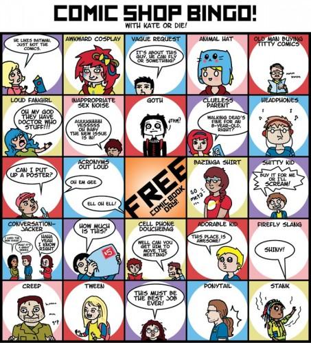 comic shop bingo