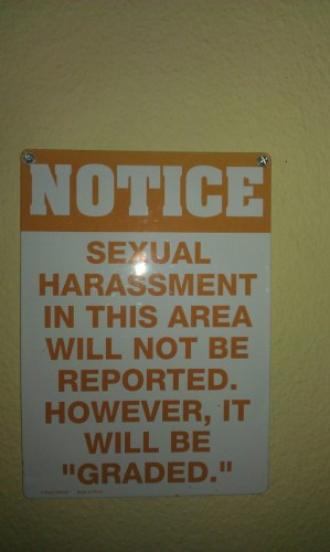 sexual harassment in this area will not be reported 299x500 sexual harassment in this area will not be reported Humor