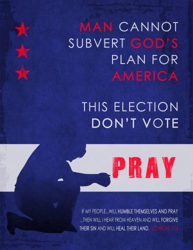 Man cannot subvert gods plan for america