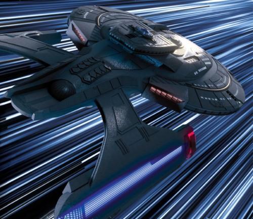 USS Titan at warp
