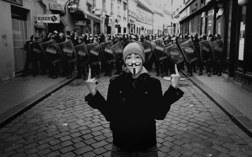 anonymous says fuck the police