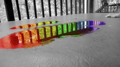 rainbow puddle