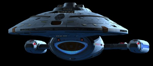 USS voyager in high detail 500x218 USS voyager in high detail Wallpaper star trek