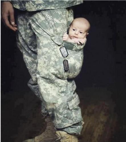 baby in cargo pants