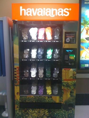 havaianas vending machine