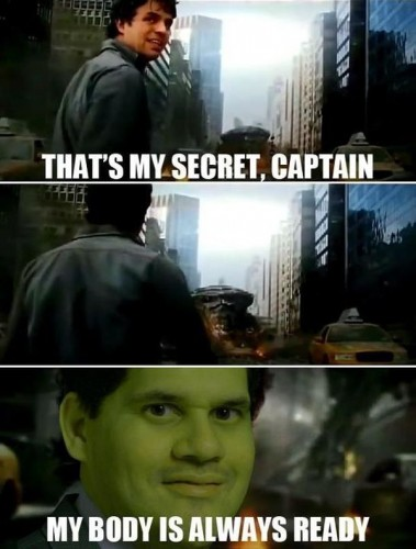my body is always ready 379x500 my body is always ready the Avengers Humor