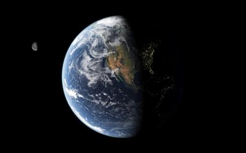 earth at nigght