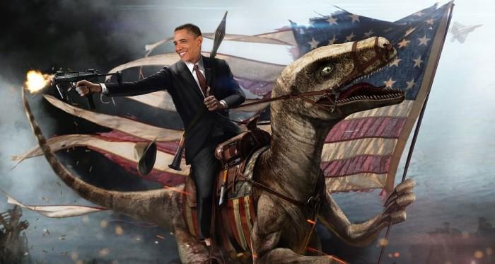 obama on a raptor 700x373 obama on a raptor