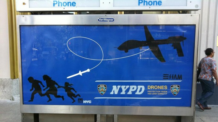 NYPD drone posters 700x393 NYPD drone posters Politics Humor
