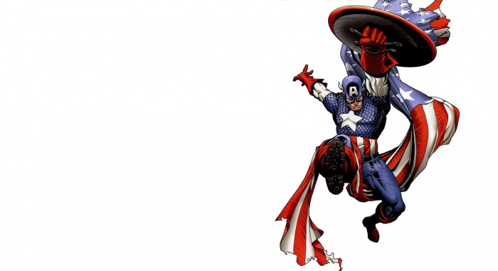 captain america jumps 700x381 captain america jumps Wallpaper Comic Books Captain America