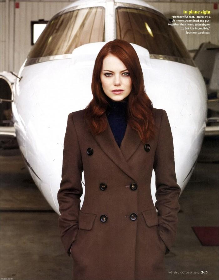 emma stone looking hot in a brown coat.jpg