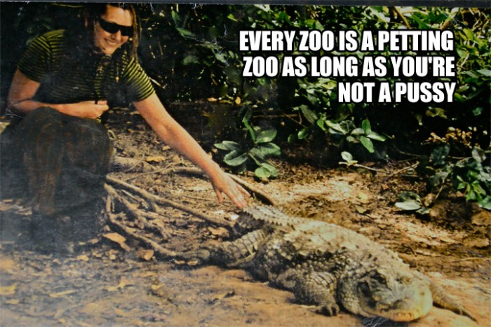 every zoo is a petting zoo as long as youre not a pussy 700x467 every zoo is a petting zoo as long as youre not a pussy Humor