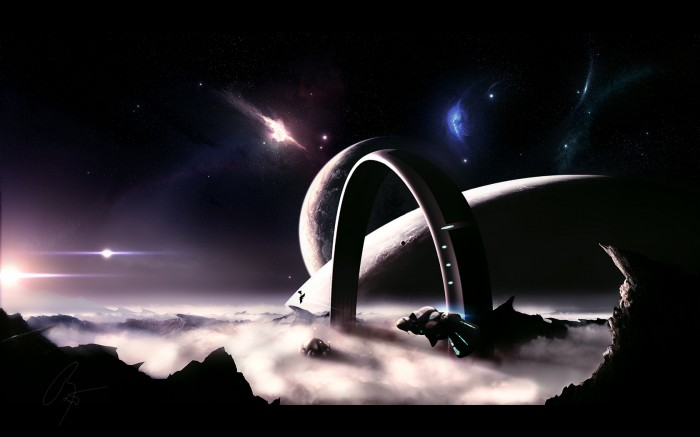 gateway wallpaper 700x437 gateway wallpaper Wallpaper Fantasy   Science Fiction