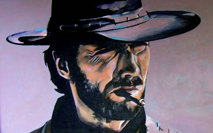 iconic cowboy 700x437 iconic cowboy Wallpaper Movies Clint Eastwood