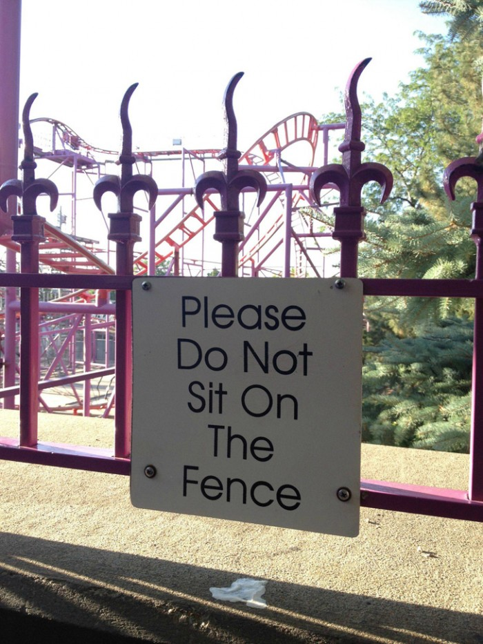 please do not sit on the fence.jpg