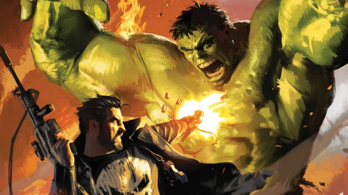 punisher vs hulk 700x393 punisher vs hulk Wallpaper the hulk punisher Comic Books