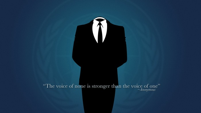 the voice of none is stronger than the voice of one 700x393 the voice of none is stronger than the voice of one Wallpaper Quotes anonymous