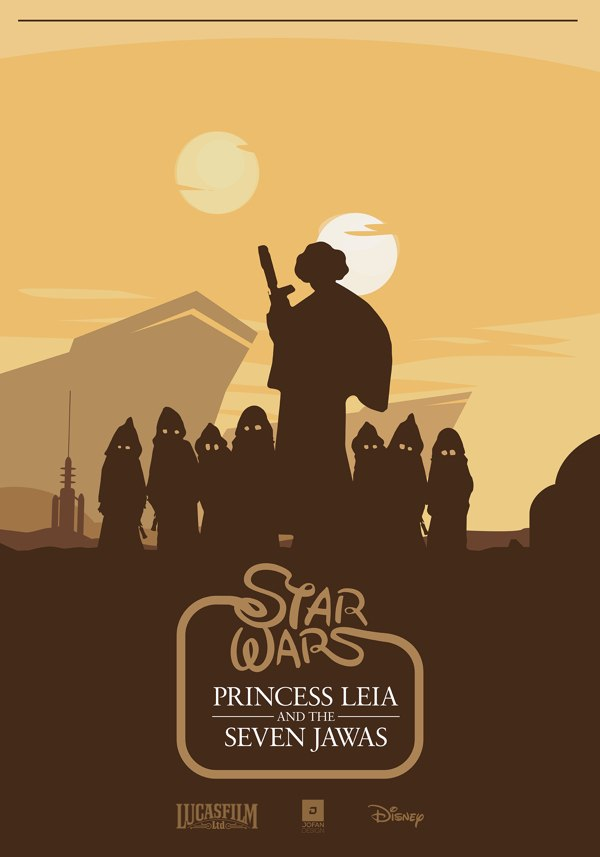 star wars - princess leia and the seven jawas.jpg