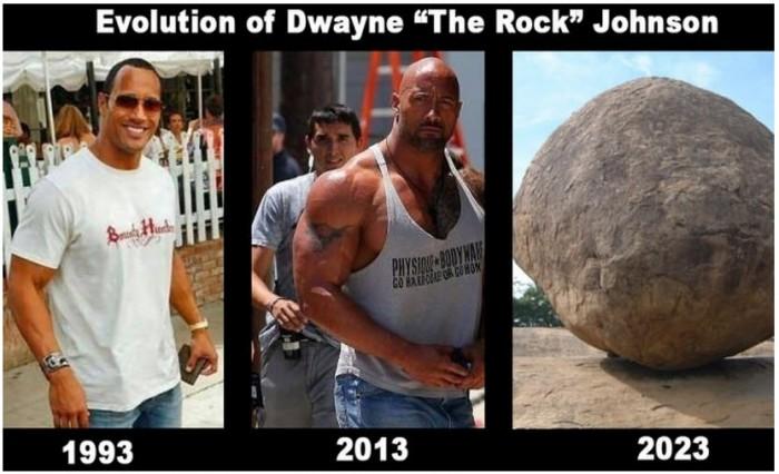 Evolution of Dwayne the Rock Johnson.jpg