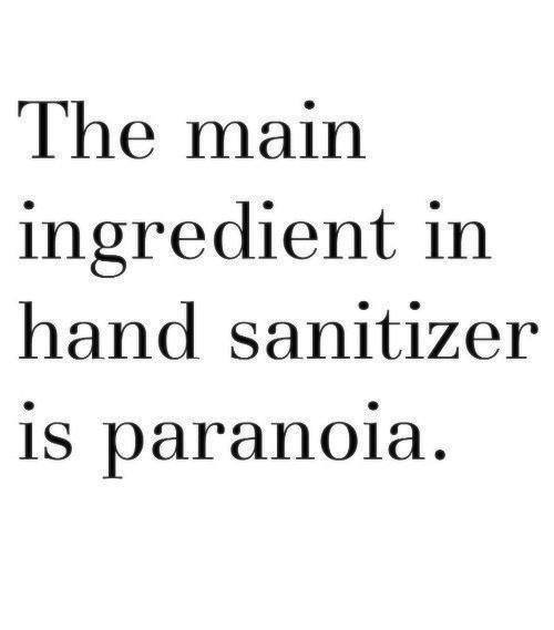 the main ingredient in hand sanitizer is paranoia.jpg